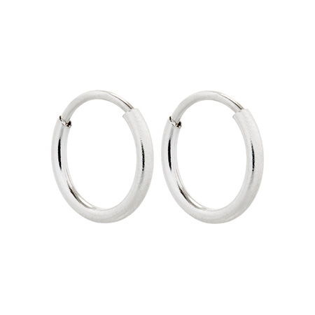 Michaels Simple Silver Hoop Earrings