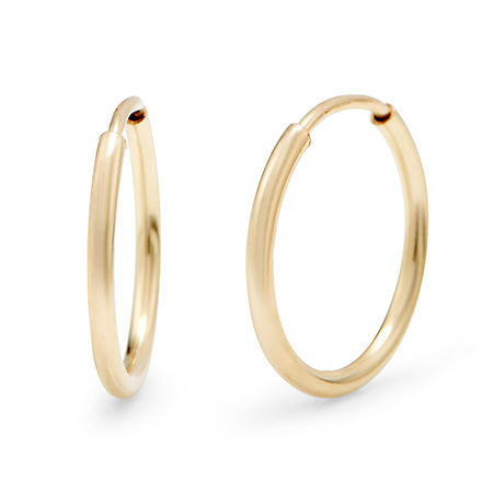 14K Gold Filled 1/2 Inch Hoop Earrings