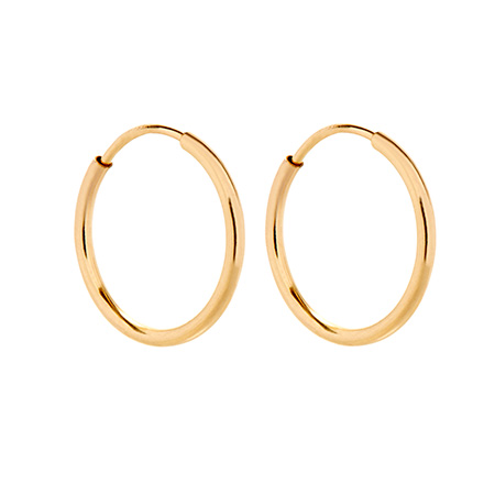 Mens 14K Gold Filled Half Inch Hoop Earrings
