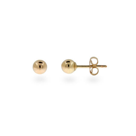 Mens 4mm 14K Gold Filled Bead Earrings