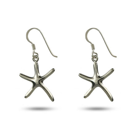 Tiffany Inspired Single Starfish Drop Earrings