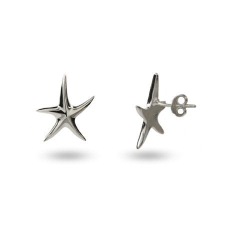 Tiffany Inspired Sterling Silver Starfish Stud Earrings