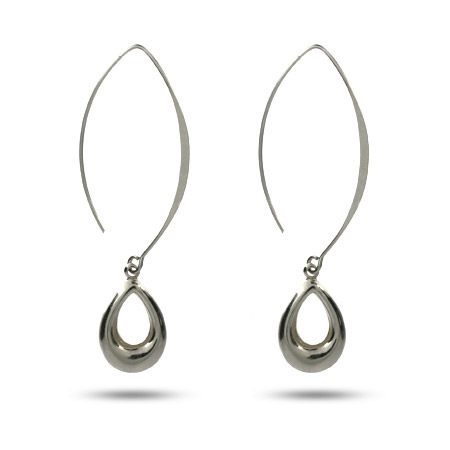 Sterling Silver Teardrop Sweep Earrings