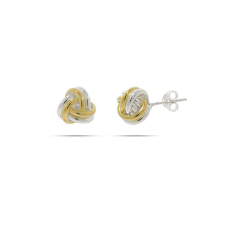 Tiffany Inspired Two Tone Knot Studs