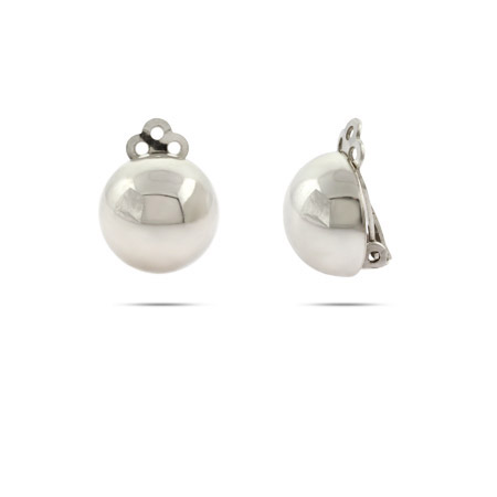 Sterling Silver Bead Clip on Earrings