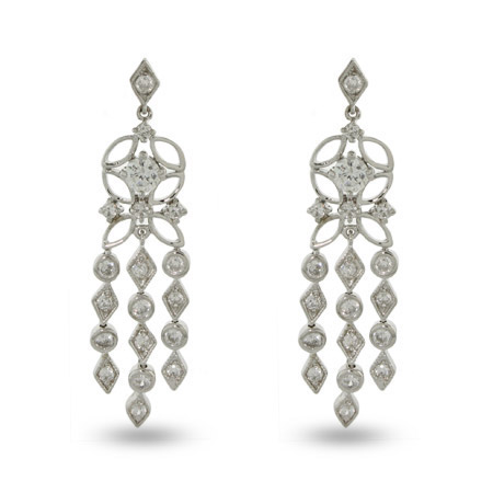 Tiffany Inspired CZ Sway Chandelier Earrings