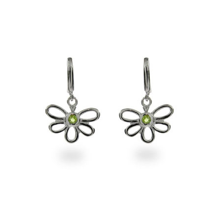 Tiffany Inspired Peridot Bumble Bee Earrings