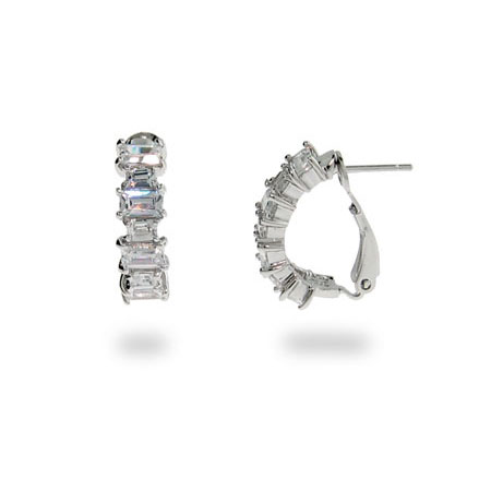 The Hollywood Legend CZ Baguette Earrings