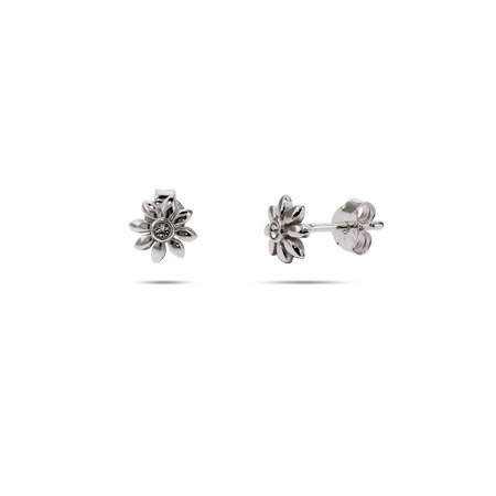 Petite Sterling Silver Daisy Stud Earrings