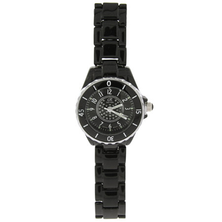 Designer Inspired Midnight Black Fashion CZ Watch
