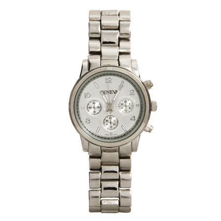 Designer Inspired Silvertone Boyfriend Watch