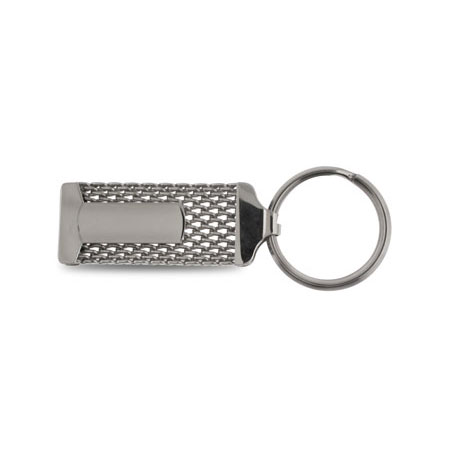 Stainless Steel Mesh Engravable Keychain
