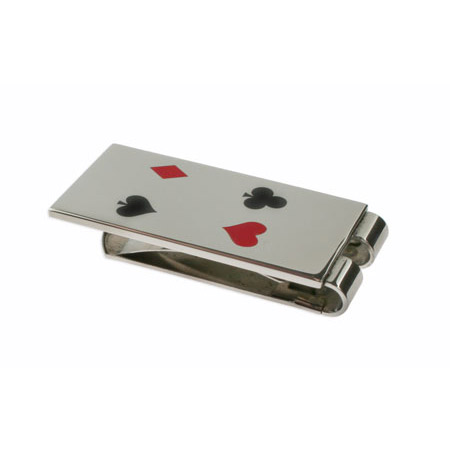 Stainless Steel Poker Money Clip