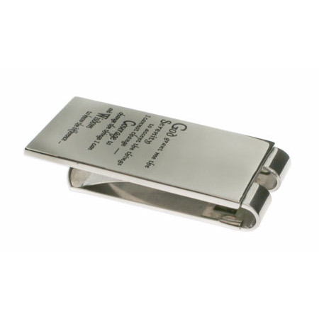 Stainless Steel Serenity Prayer Money Clip