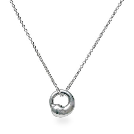 Tiffany Style Eternal Circle Sterling Silver Necklace