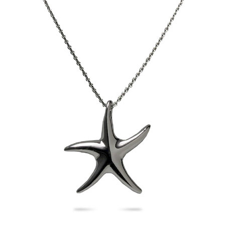 Tiffany Style Sterling Silver Starfish Necklace