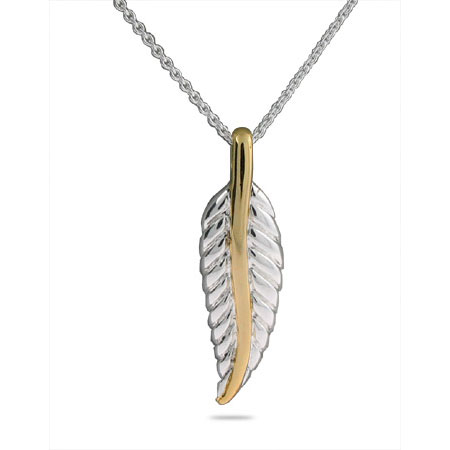 Tiffany Inspired Sterling Silver Nature Leaf Pendant