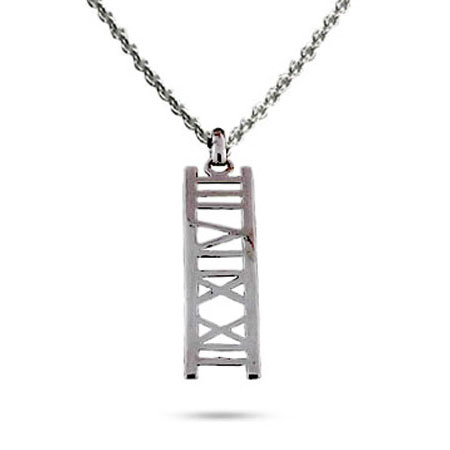 Tiffany Inspired Sterling Silver Atlas Bar Pendant