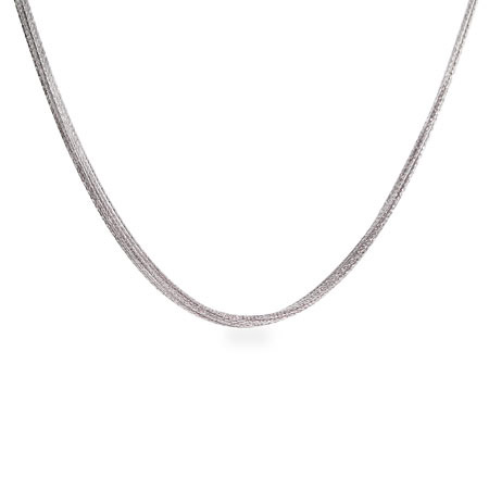 Diamond Cut Multi Chain Sparkling Sterling Silver Necklace