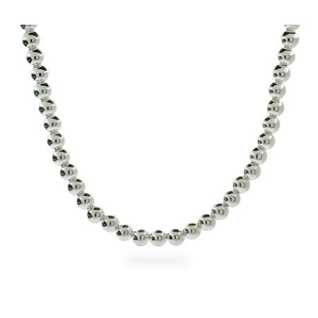 Tiffany Inspired 6mm Sterling Silver Bead Necklace