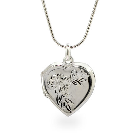 Lindsay's Sterling Silver Flower Heart Locket