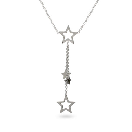Tiffany Inspired Sterling Silver Cascading Star Necklace