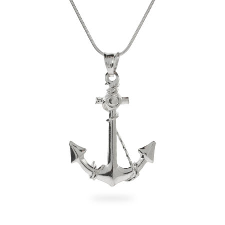 Ahoy! Sterling Silver Anchor Pendant