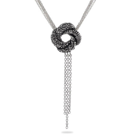 Algerian Love Knot Sterling Silver Bond Girl Necklace