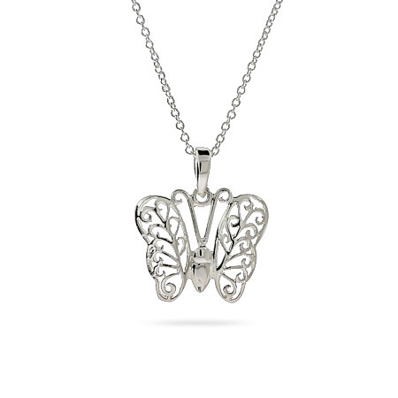 Hailey's Sterling Silver Butterfly Pendant