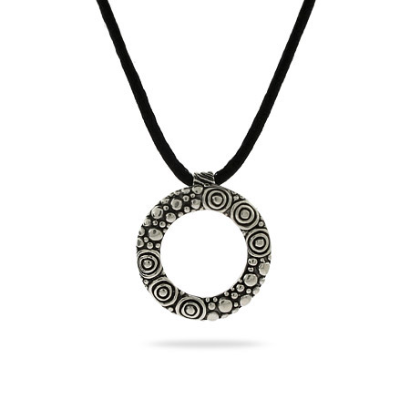 Round Bali Style Sterling Silver Necklace