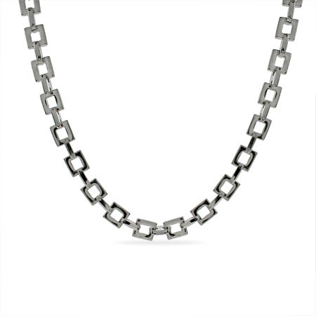EvesAddiction.com Men's Square Link Stainless Steel Chain - Clearance Final Sale at Sears.com