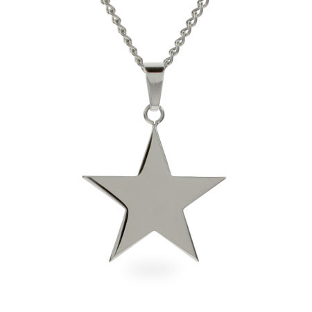 Engravable Stainless Steel Star Pendant