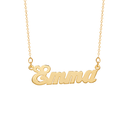 Simple Script Gold Plated Custom Nameplate Necklace