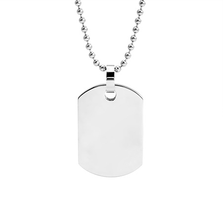Medium Stainless Steel Dog Tag