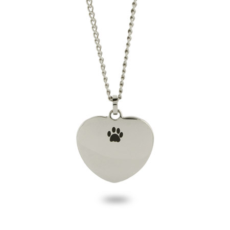 Unconditional Love Engravable PawPrint Pendant