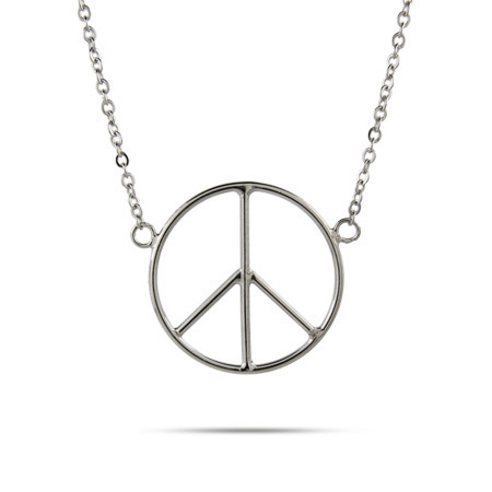 Give Me Peace Sterling Silver Peace Necklace