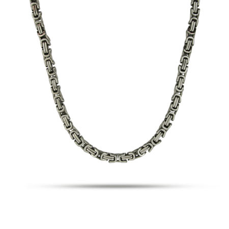 Mens Stainless Steel Bali Style Link Necklace