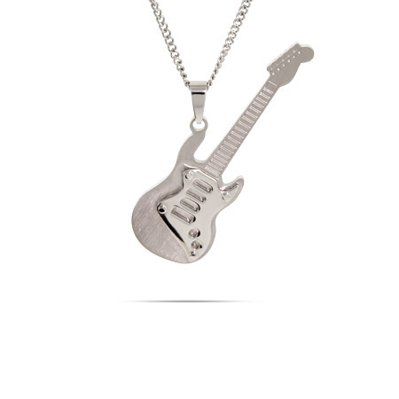 Engravable Stainless Steel Guitar Pendant