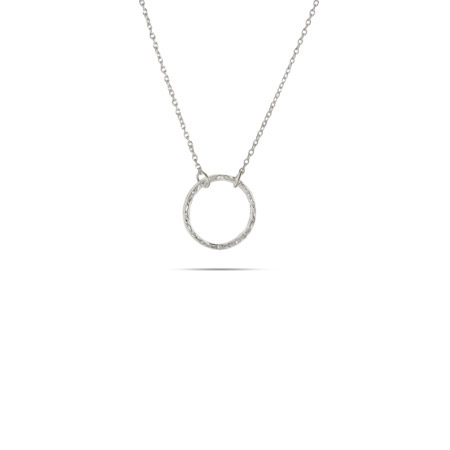 Tiffany Inspired Sterling Silver Petite O Necklace