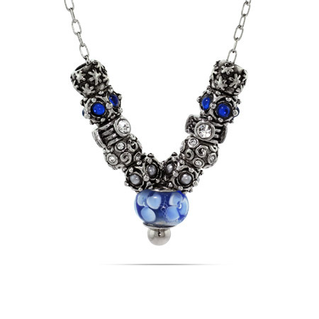 Oriana Bead Drop Chain Necklace - Pandora Bead Compatible