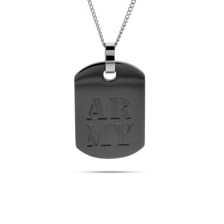 US Army Engravable Military Dog Tag Pendant