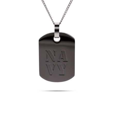 US Navy Engravable Military Dog Tag Pendant