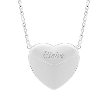 Engravable Sterling Silver Secret Message Heart Locket
