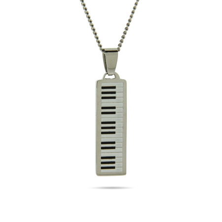 Engravable Piano Keyboard Pendant