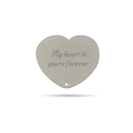 Sterling Silver Engravable Secret Message Heart Insert