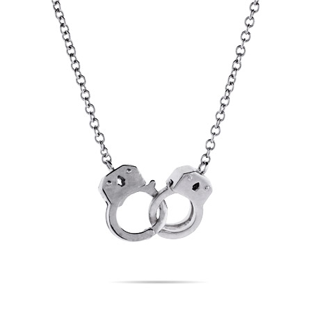 Christian's Sterling Silver Handcuff Necklace