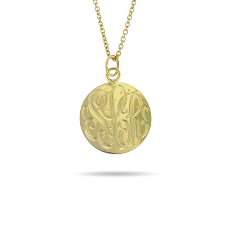 Gold Vermeil Small Monogram Tag Pendant
