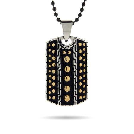 Designer Inspired Bali Dotted Engravable Dog Tag