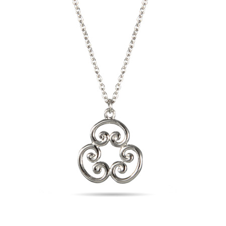 Tiffany Inspired Sterling Silver Scroll Pendant