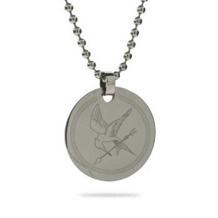 Hunger Games Inspired Engraved Mockingjay Pendant